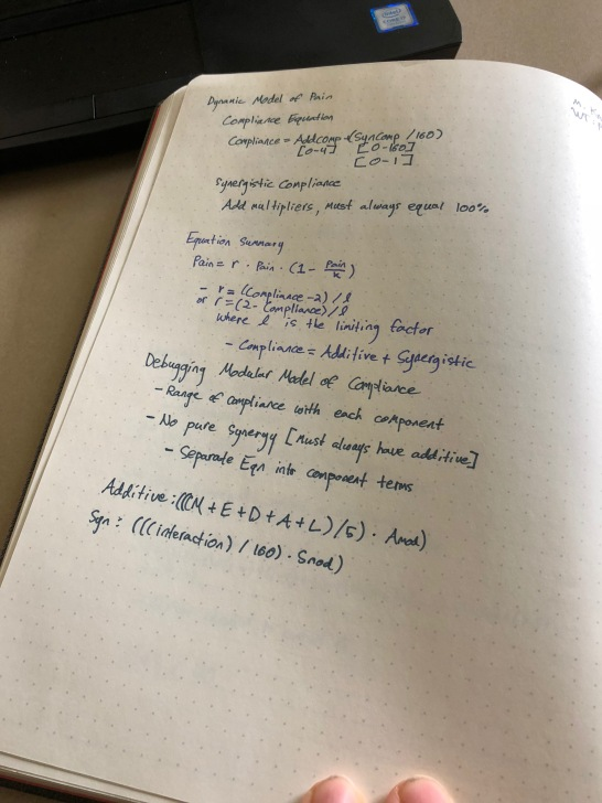 Compliance Equation Notes